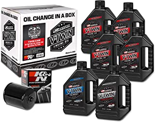 Maxima Racing Oils 90-119016B Twin Cam Synthetic 20W-50 Black Filter Complete Oil Change Kit, 192. Fluid_Ounces