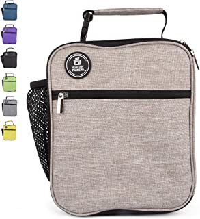 Insulated Lunch Box for Adults and Kids - Professional Work Lunch Bag for Men and Women - Spacious and Heavy Duty School Lunchbox for Boys and Girls (Light Grey)