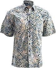 Jungle Sand Cotton Hawaiian Batik Shirt by Johari West