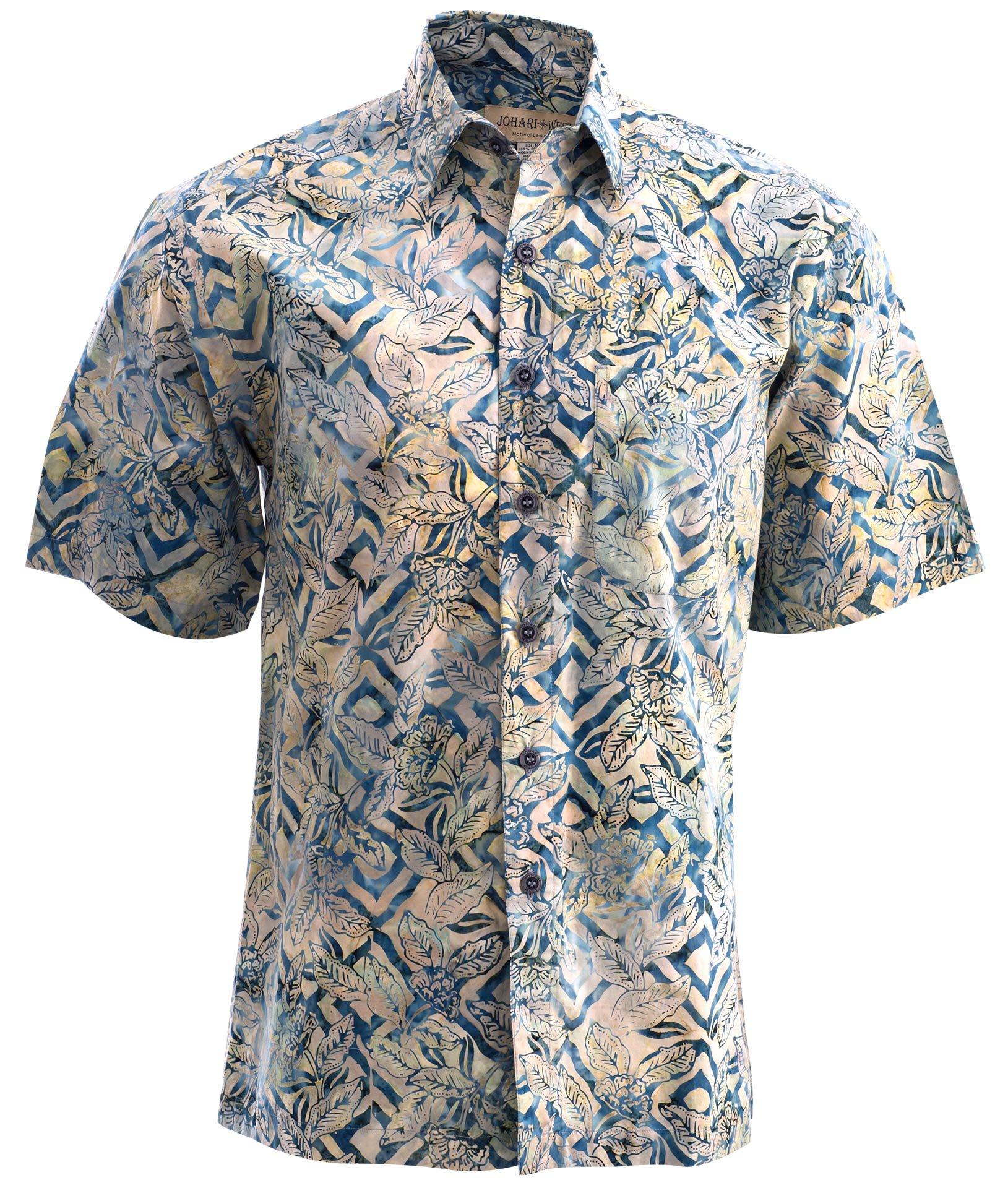 Johari West Jungle Sand Cotton Hawaiian Batik Shirt