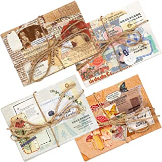 Set de 240 Autocollants de Journalisation Paquet de Sticker Vintage Esthétique Papier Washi Sticker Journal Scrapbooking K...