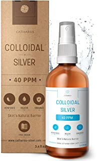 Premium Colloidal Silver Spray 40 PPM 100mL ● 100% Natural