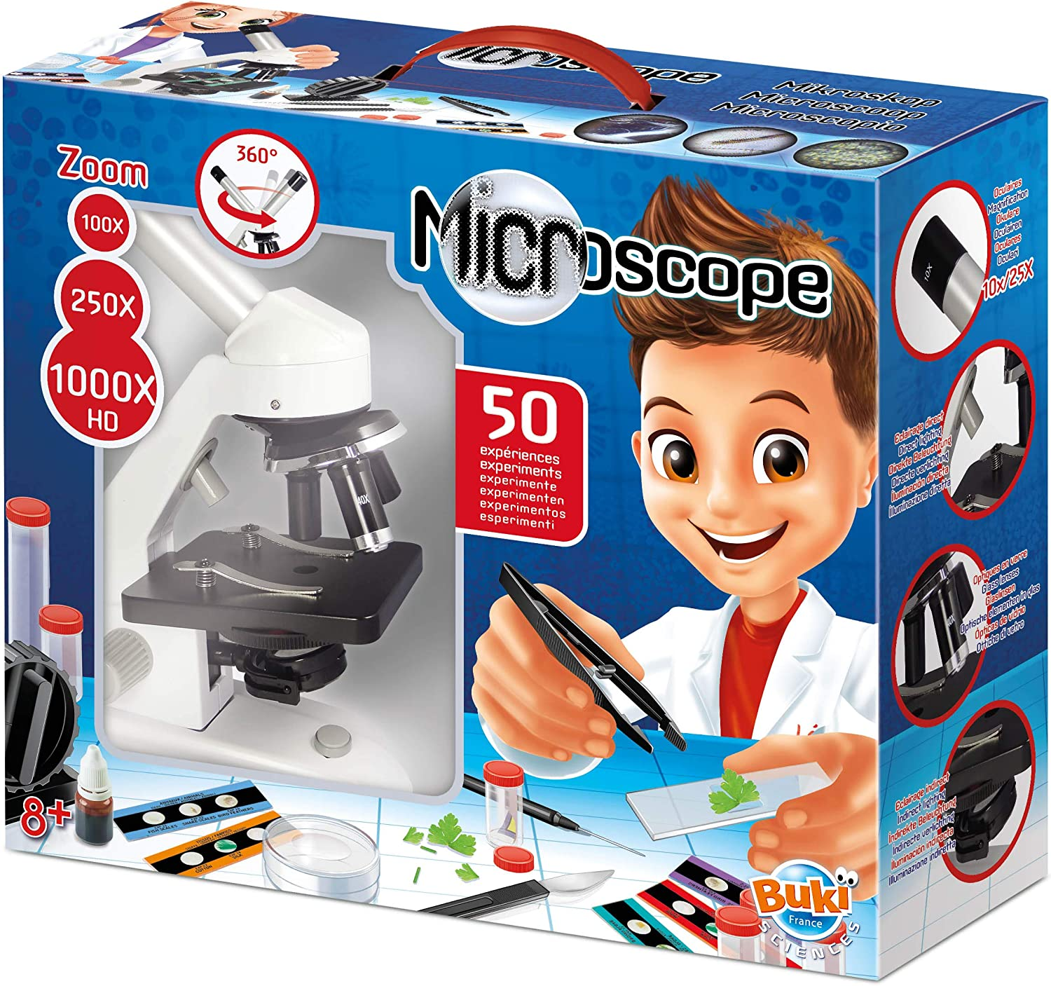 BUKI France MR600 50-Experiment Microscope Educational Toy