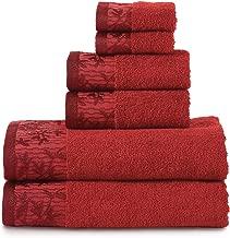 Superior Wisteria 100% Cotton Towel Set, 6 Piece