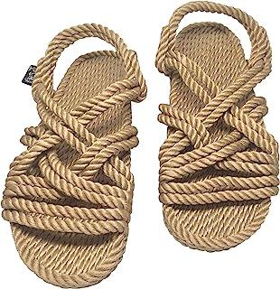 Nomadic State of Mind Lounger Sandals- Handmade Adjustable Rope Shoes – Machine Washable – Comfortable & Lightweight – Veg...