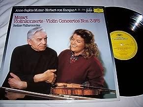Wolfgang Amadeus Mozart - Berliner Philharmoniker , Herbert Von Karajan , Anne-Sophie Mutter - Violin Concertos Nos. 3 & 5 - Deutsche Grammophon - 410 982-1