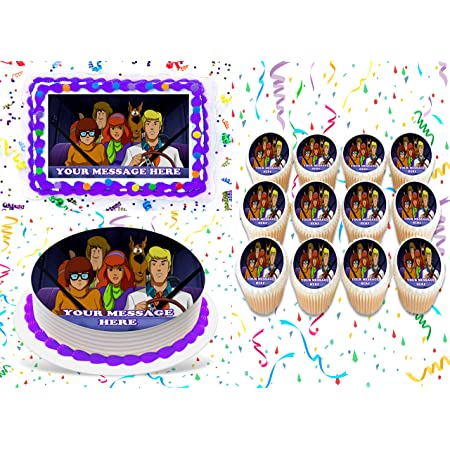 SCOOBY DOO EDIBLE ICING CAKE TOPPER MANY SIZES