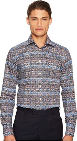 Slim Fit Knit Print Shirt
