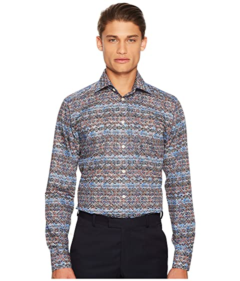 Eton Fit Print Knit Shirt Slim BqBrvwP