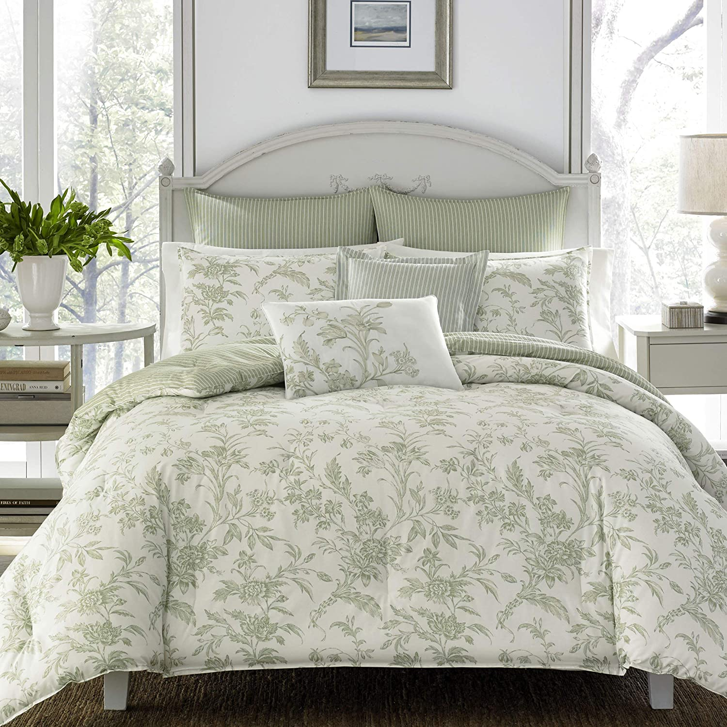 Laura Ashley Home Ultra-Cheap Deals - Natalie Collection Boston Mall Soft Luxury C Ultra 5pc