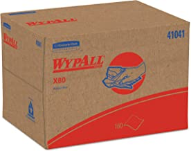WypAll 41041 X80 Cloths, BRAG Box, HYDROKNIT, Blue, 12 1/2 x 16 4/5 (Case of 160 Wipers)