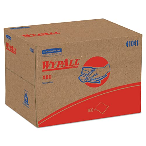 WypAll 41041 X80 Cloths, BRAG Box, HYDROKNIT, Blue, 12 1/2