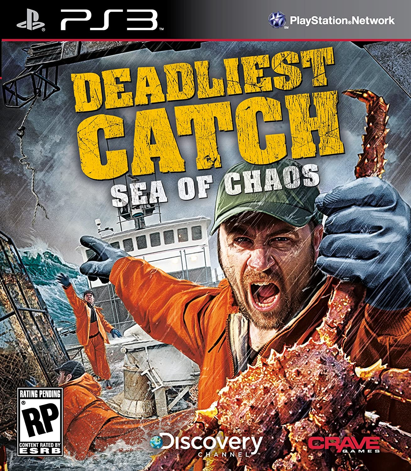 Deadliest Catch: Sea of Chaos with Playstati Move Max 77% 2021 model OFF - Compatible
