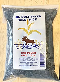(GLUTEN FREE) One Pound 100% All Natural Minnesota Cultivated Wild Rice