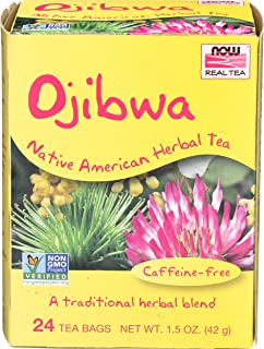 NOW Foods Real Tea Ojibwa Native American Herbal Tea -- 24 Tea Bags