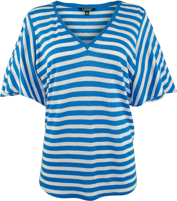 Lauren Ralph Lauren Women's Striped Linen Blend Shirt
