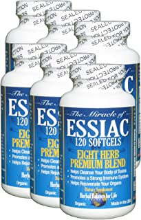 Essiac Tea Softgels, 711 Mg, 6 Pack 720 Soft Gels, Eight Herb Essiac Tea, No Brewing, No Refrigeration, Great for Travel, ...