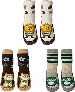 Toddler Slippers Socks With Grips Non Skid Anti slip Socks for infant boys girls Warm and Soft