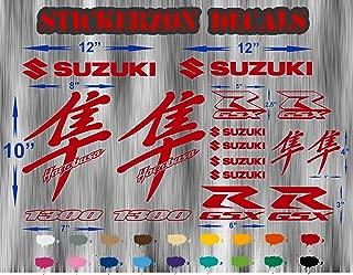 GSX R 1300 Suzuki Bike Motorcycle Hayabusa Full Decals Sticker Graphics Kit Set Busa 1340 Labels RED Non OEM 16 Pcs