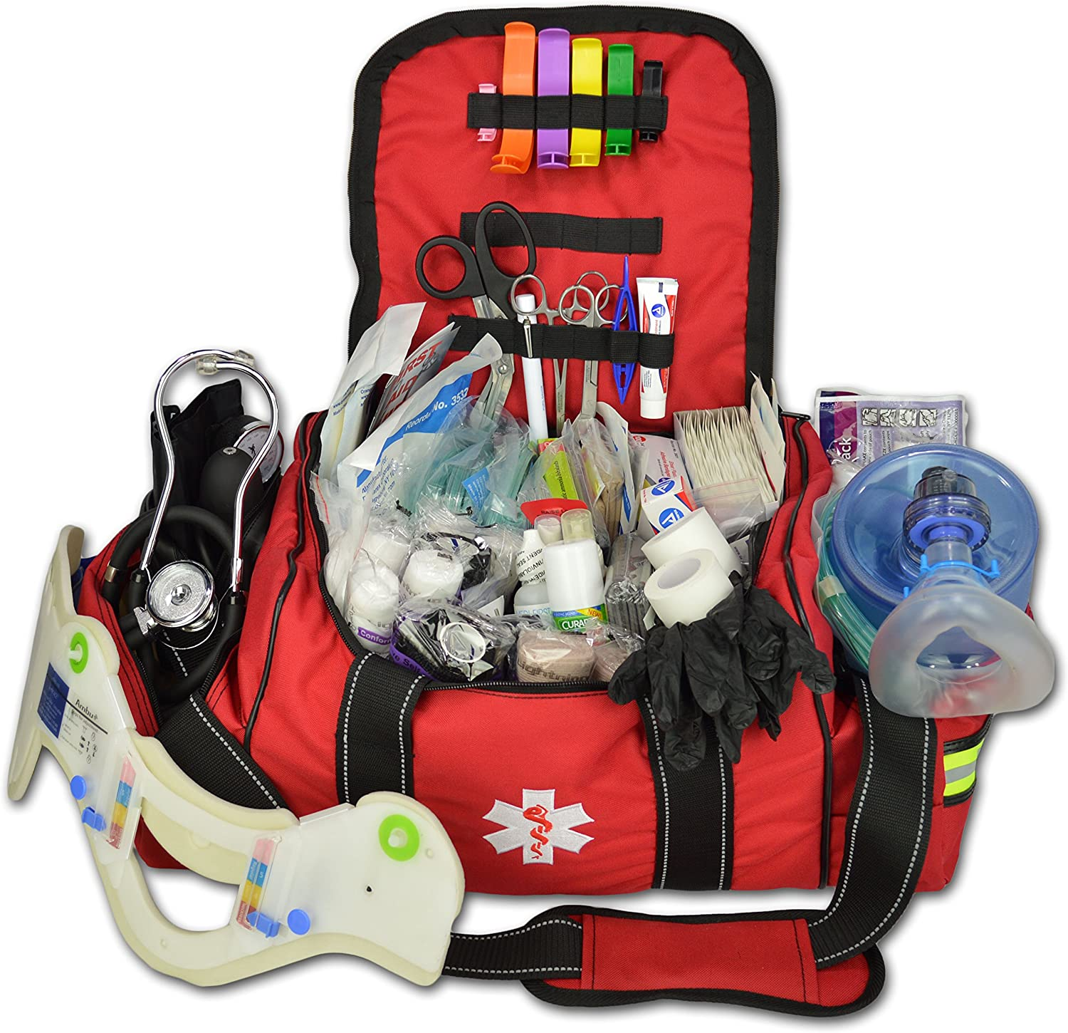 Lightning Max 72% OFF X Deluxe Stocked Max 66% OFF Large EMT Aid K Trauma Fill Bag First