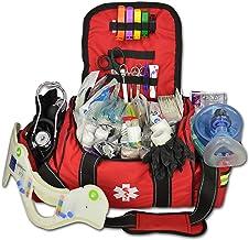 رعد و برق لوکس X Deluxe بزرگ EMT اولین تدبیر کیسه کیسه پر کیت w / اورژانس لوازم پزشکی (قرمز)