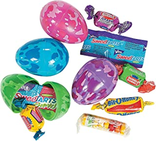 Fun Express - Plastic Candy Filled Camo Eggs (2dz) for Easter - Party Supplies - Pre - Filled Party Favors - Pre - Filled Plastic Containers - Easter - 24 Pieces