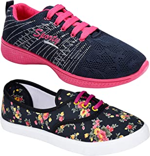 Shoefly Women Multicolour Latest Collection Sports Running Shoes-Pack of 2 (Combo-(2)-611-1153)