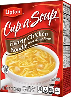 Lipton Cup-A-Soup Instant Soup Mix, Hearty Chicken Noodle 1.7 oz