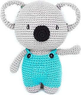 The Bunny Baby Stuffed Animals for Newborn Baby, Crochet Koala Plush Toy 100% Hand Crocheted