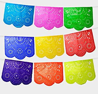 Fiesta Brands Mexican Papel Picado Banner.Colores de Primavera.Vibrant Colors Tissue Paper.
