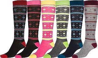 Pack de 6 calcetines de diseño ideal y de altura hasta la rodilla (de pack 6)