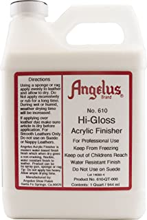 Angelus Brand No. 610 Hi-gloss Acrylic Finisher (1 Quart)