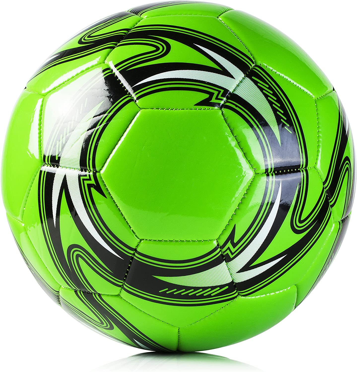 Western Star Soccer Ball Size 4 & Size 5 - Official Match Weight - 5 Colors - Youth & Adult Soccer Players - Inflate & Play with Durable, Long-Lasting Construction & Attractive Soccer Balls