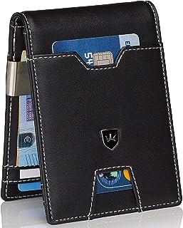 Kronenschein® Portafoglio Premium sottile da Uomo con Fermasoldi Portamonete Custodia per carte di Credito e protezione RF...