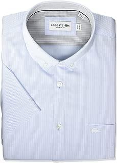 Lacoste Men's Short Sleeve Button Down Regular Fit Poplin City Woven Shirt