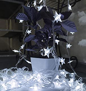 pop-belief Stars String Lights, 100 Translucent Stars 33 Feets Long LED Starry Light Fairy String Light for Bedroom, Garden,Wedding, Teepee, Christmas Xmas Indoor and Outdoor Decoration (White)