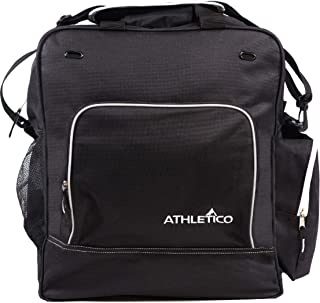 Athletico Weekend Ski Boot Bag - Snowboard Boot Bag - Skiing Snowboarding Travel Luggage - Stores Gear Including Jacket, Helmet, Goggles, Gloves & Accessories (Black)