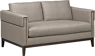 Stone & Beam Westport Modern Nailhead Upholstered Loveseat Sofa Couch, 61.5