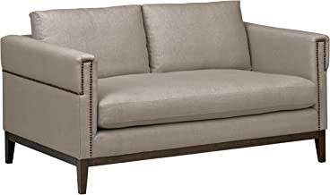 Stone & Beam Westport Modern Nailhead Upholstered Loveseat Sofa Couch, 61.5