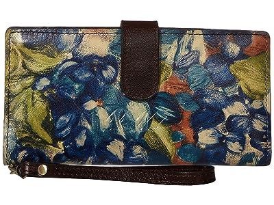 Patricia Nash Valentia (Blue Clay/Floral) Handbags
