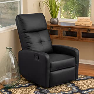 Christopher Knight Home Teyana Black Leather Recliner Club Chair