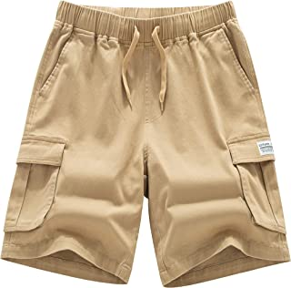 LTIFONE Men's Cargo Short Casual Elastic Premium Waist Relaxed Outdoor Summer Shorts with Pockets