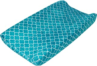 Summer Ultra Plush Changing Pad Cover, Teal Medallion