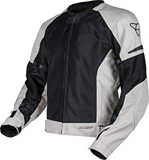 Pilot Motosport Men's Slate Air Mesh Motorcycle Jacket, SILVER, XL (X-Large)