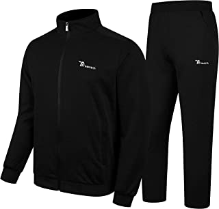 Men's Activewear Fleece Tracksuits 2 Pieces Jacket & Pants Full Zip Jogging Thermal Sweatsuit Sportswear