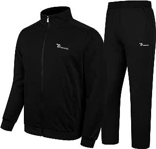 Men's Activewear Fleece Tracksuits 2 Pieces Jacket & Pants Full Zip Jogging Sweatsuit Sportswear