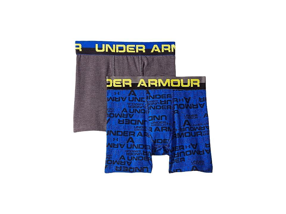 Under Armour Kids - Under Armour Kids 2-Pack Wordmark Cotton Boxer Set