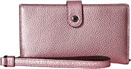 COACH - Phone Wristlet in Metallic Leather
