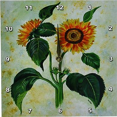 3dRose dpp/_126421/_2 A Bouquet Set in a Deep Niche by Johannes Baers Wall Clock 13 by 13-Inch