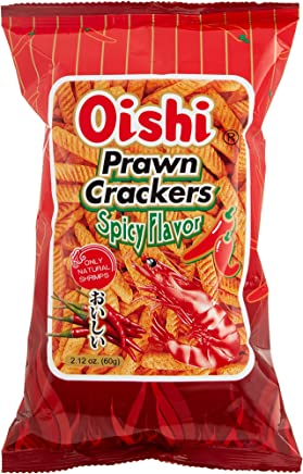 Oishi Spicy Flavour Prawn Crackers, 60 g
